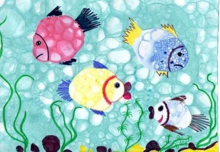 Рисуем мыльными пузырями