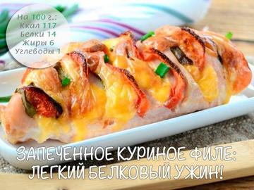 Запеченное куриное филе