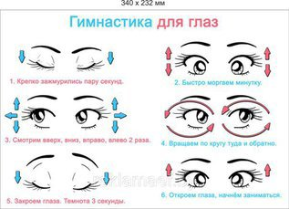 Гимнастика для глаз в стишках